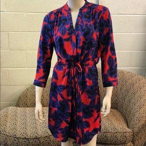 Diane Von Furstenburg silk print dress